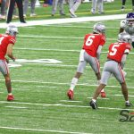 Ohio State Wide Receivers Jameson Williams, Julian Fleming, Garrett Wilson Buckeyes