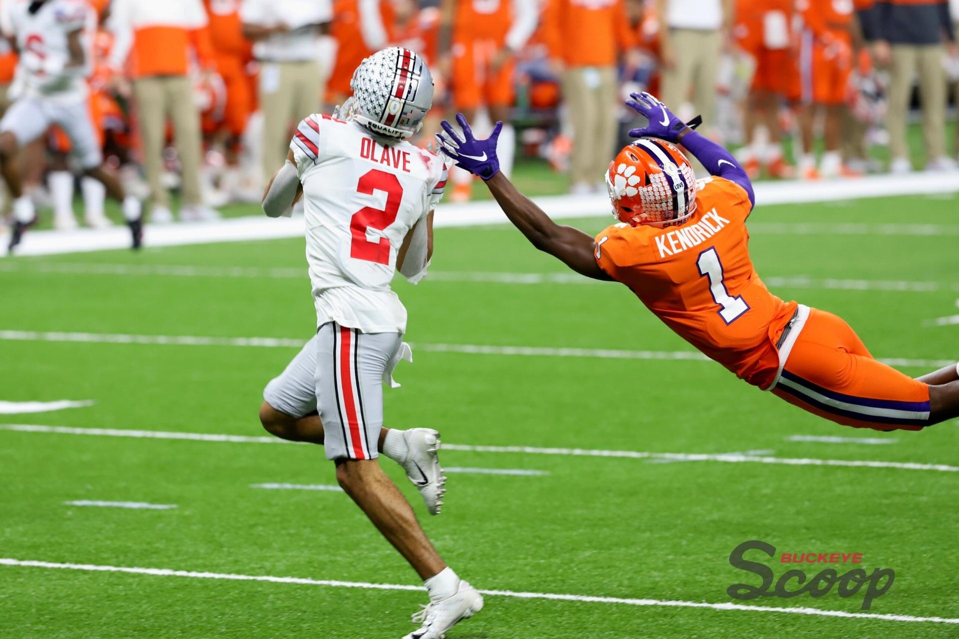 2021 Sugar Bowl Chris Olave touchdown Buckeyes Ohio State football