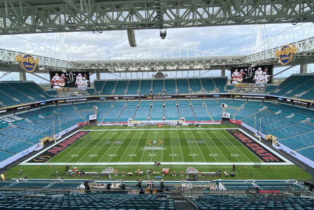 2021 National Championship Game Hard Rock Stadium