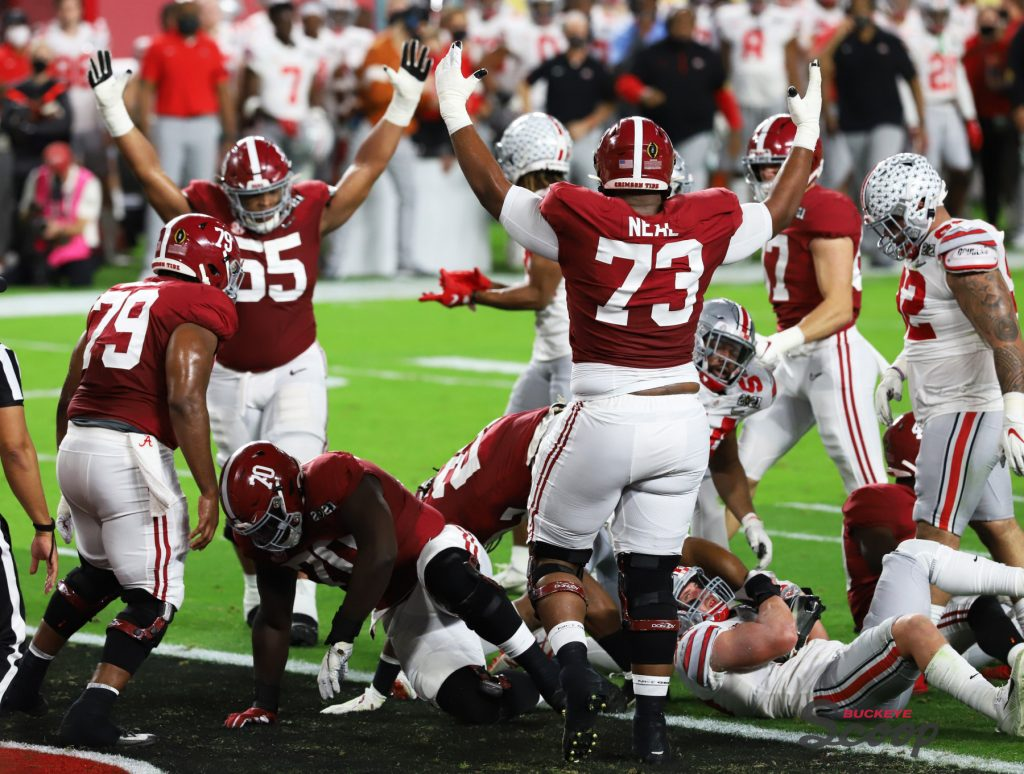 2021 National Championship Game Alabama touchdown