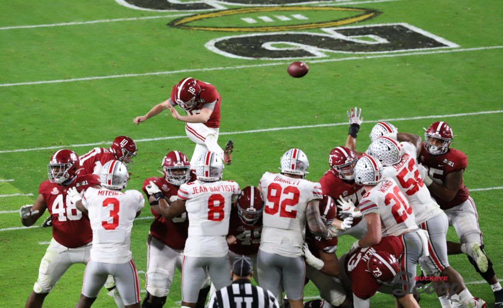 2021 National Championship Game Alabama special teams field goal