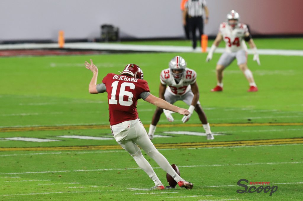2021 National Championship Game Alabama special teams kickoff