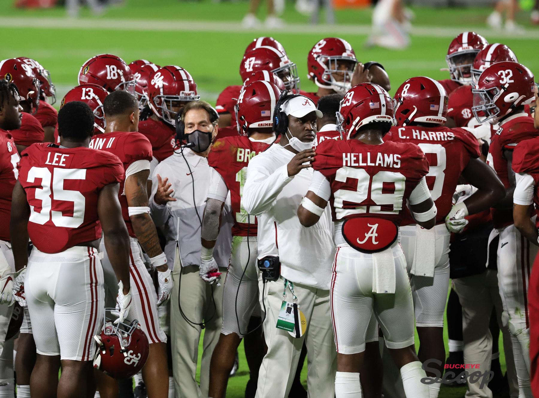 2021 National Championship Game Alabama defense Nick Saban