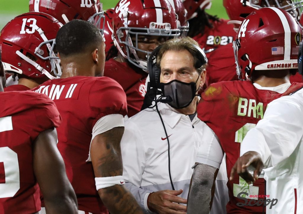 2021 National Championship Game Alabama Nick Saban