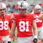 Ohio State football tight ends Jeremy Ruckert Sam Hart Buckeyes