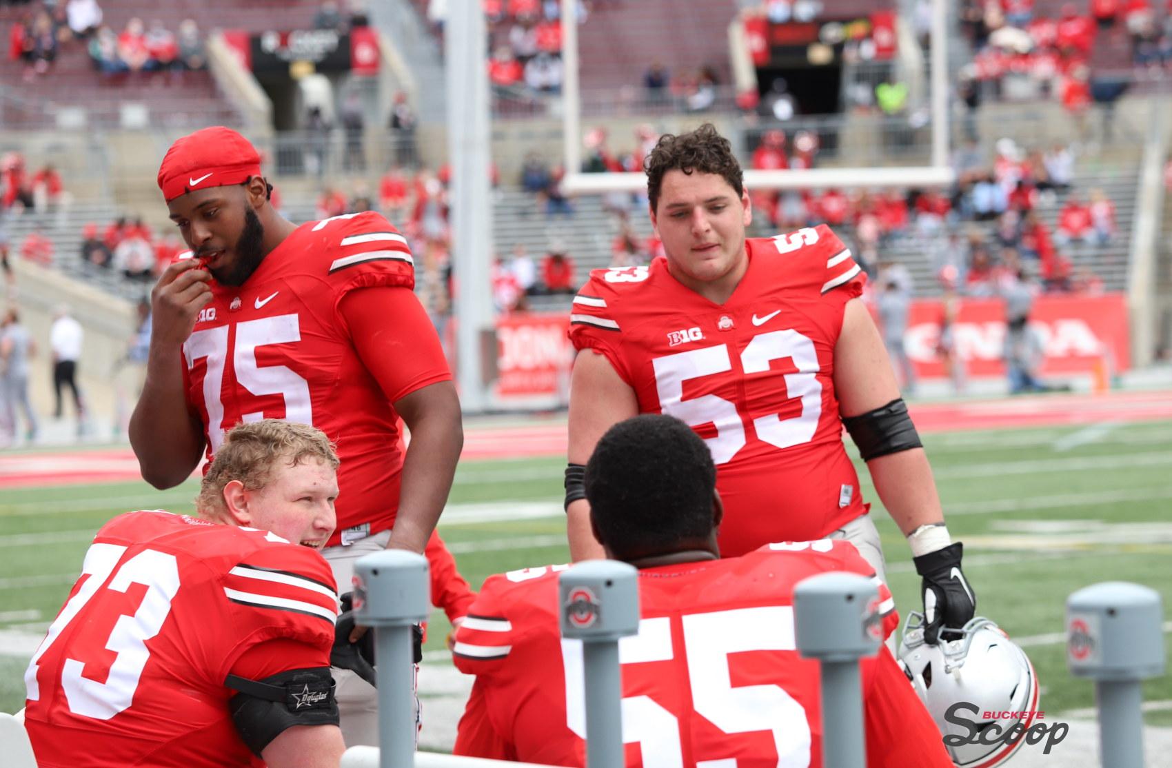 Ohio State Buckeyes football Thayer Munford Grant Toutant Luke Wypler Matthew Jones