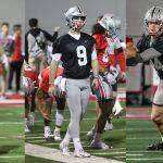 Ohio State quarterbacks Ohio State football CJ Stroud Jack Miller Kyle McCord