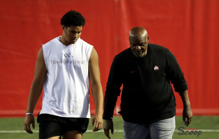 Matayo Uiagalelei and Larry Johnson Ohio State Buckeyes