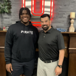 Tyler Booker with Ryan Day on his Ohio State official visit