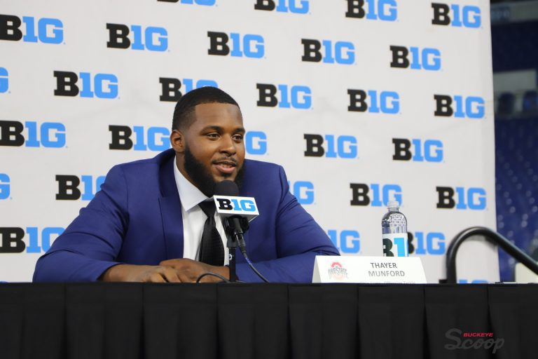 Big Ten media days Ohio State football offensive tackle Thayer Munford