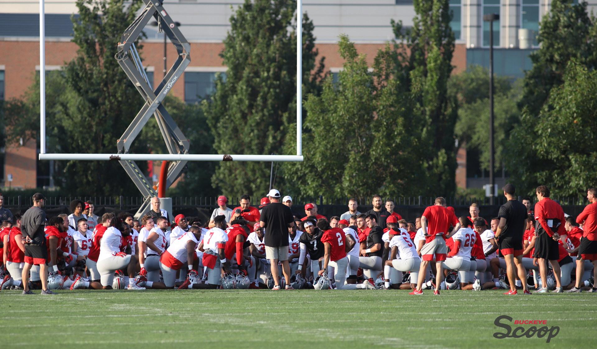 Ohio State football practice Ryan Day