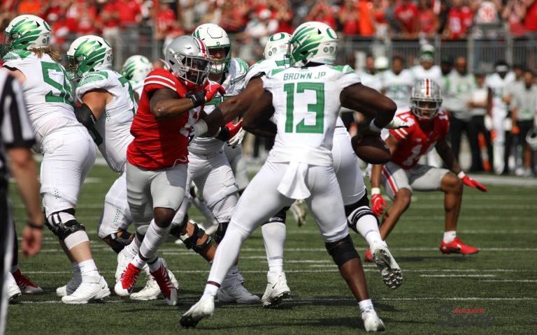 Ohio State football defensive lineman Javontae Jean-Baptiste