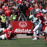 Ohio State Buckeyes football CJ Stroud sacked