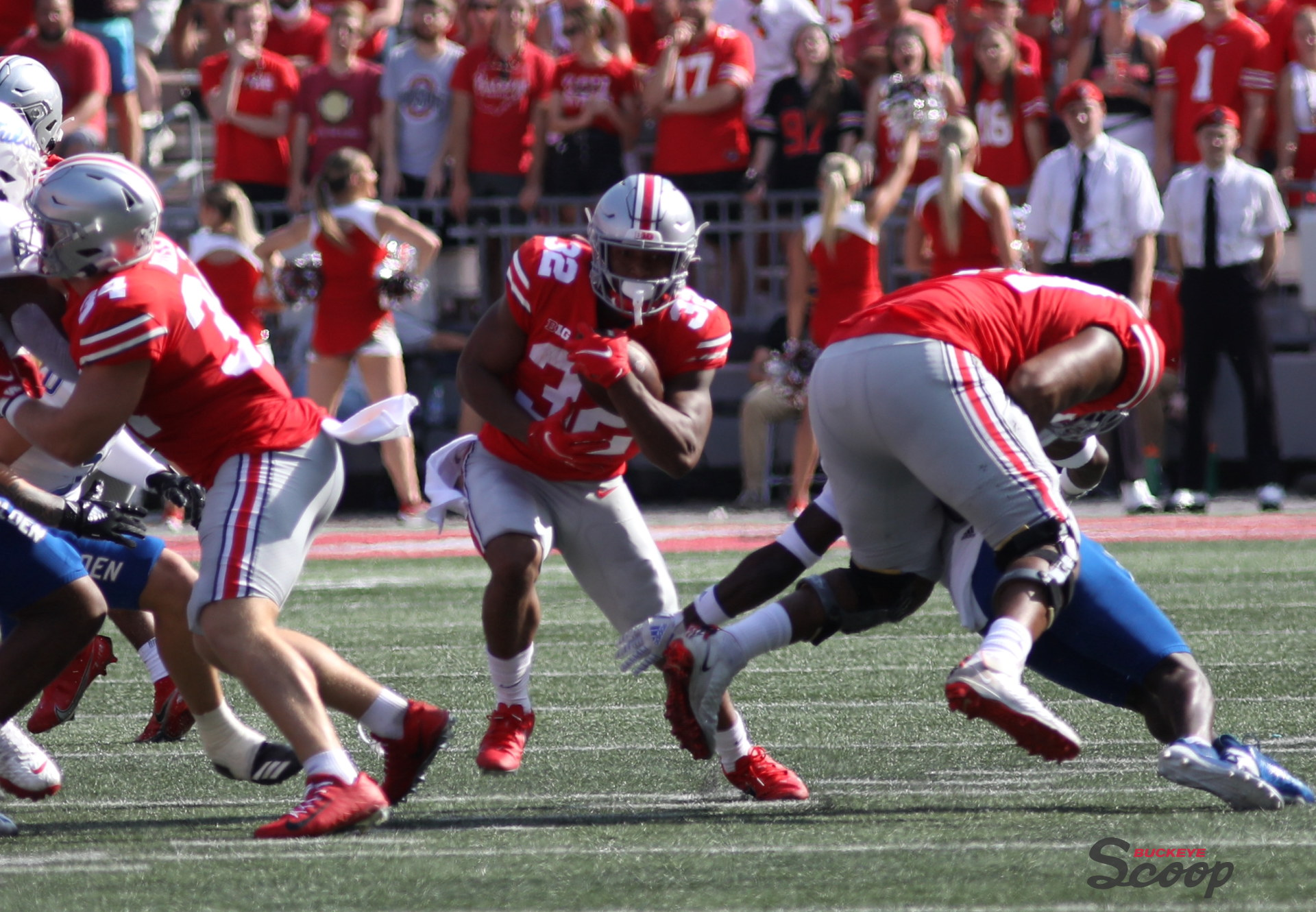 Ohio State football running back TreVeyon Henderson