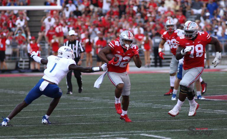 Ohio State Buckeyes football TreVeyon Henderson touchdown