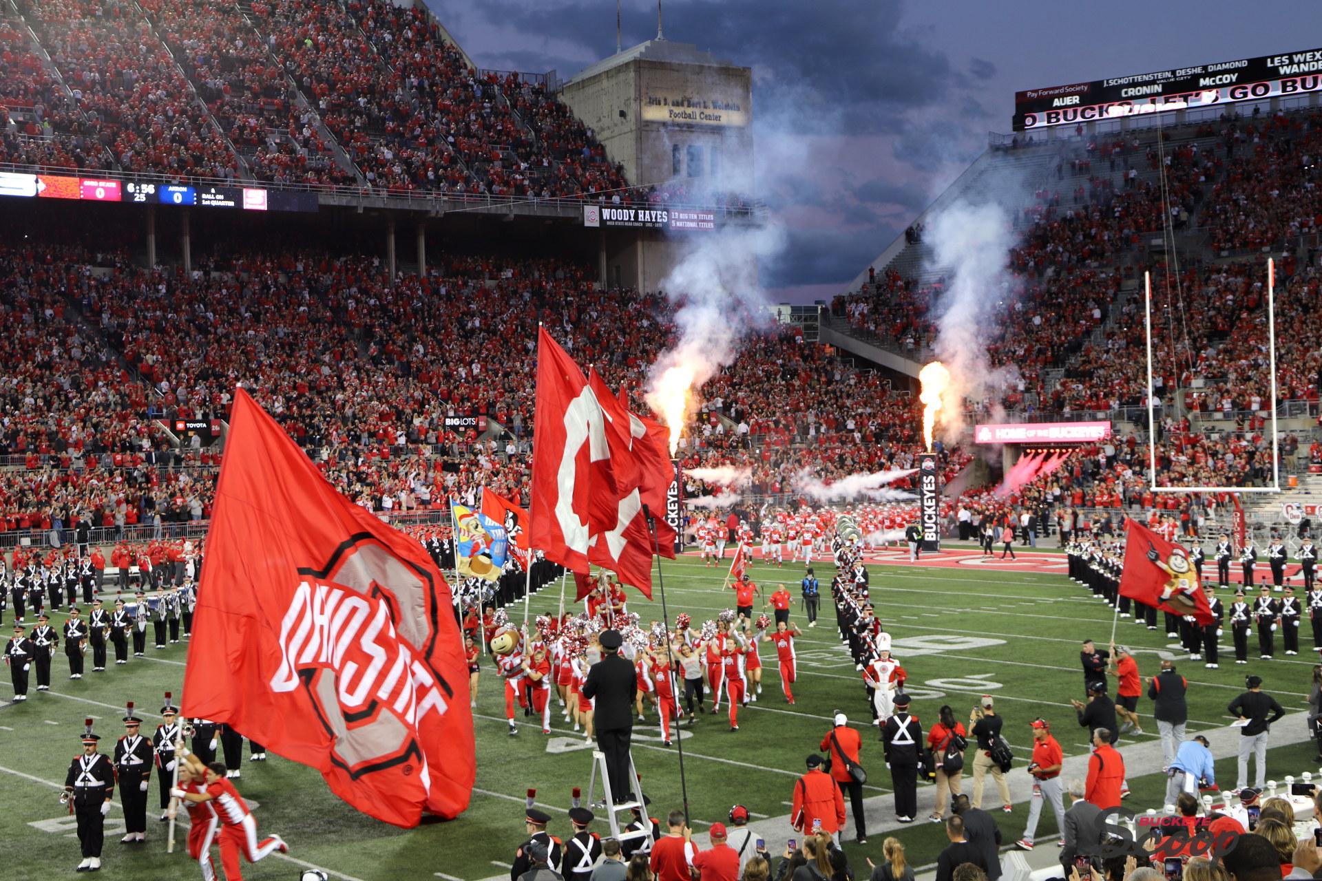 Ohio State Buckeyes team entrance Ohio Stadium