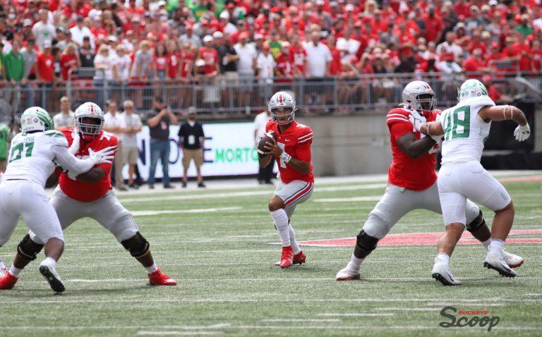 Ohio State Buckeyes football Thayer Munford Nick Petit-Frere CJ Stroud